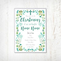 Christening Invitation, Naming day, Baptism Invitations, Personalised, Boy, Girl
