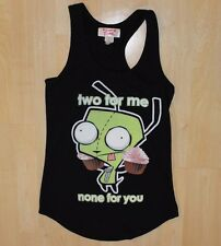 Invader Zim Juniors Graphic Might Fine Tank Black Size S Small