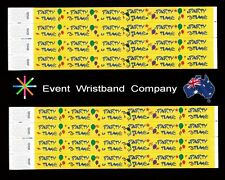 100 x Party Time Tyvek, party, security, wristbands