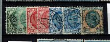 Briefmarken Italien 240 - 243 gestempelt König Viktor Emanuel III.