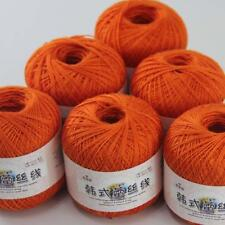 AIP Thread No.8 Cotton Crochet Yarn Craft Tatting Hand Knit Embroidery 50gx6 #24