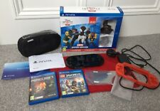 Sony Playstation PS Vita Black Console LEGO Mega Pack WIFI 8GB Card + Games