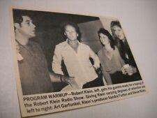 STEVIE NICKS Art Garfunkel ROBERT KLEIN Sandra Furton 1981 music biz pic/text