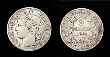 2 Francs 1894 A, Cérès. RARE. Argent. TB. Cote TB: 45€