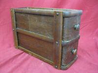 Unique Antique Sewing Machine Oak Drawers in Frame #5