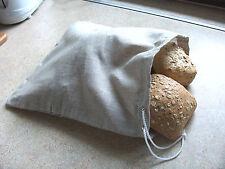 100% Linen Breadbag Bread Herbs Rice Loaf Bag Natural Fit Handmade Free Shipping
