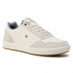 Tommy Hilfiger Lightweight Leather Cupsole FM0FM02991 Ivory YBI Trainers Shoes