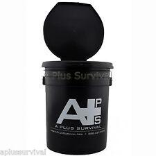 Portable 5 Gallon Emergency Survival Honey Bucket Potty Toilet & Seat Lid Combo