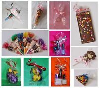 Clear Cello Treat, Party Cones, Gusset Gift  Bags & Bags for Sweets & Lollipops