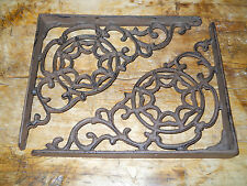 6 Cast Iron Antique Style Large Web Brackets, Garden Braces Shelf Bracket
