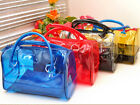 Sweet Jelly Woman Clear Transparent Bucket Bag PVC 2in1 Fashion Handbags Purses