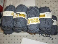 12 pelotes laine Bergère de France Sport grise