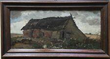 JULIUS RUNGE (1843-1922) ALTE KATE - RÖBEL MÜRITZ MECKLENBURG 16 X 30,5 CM