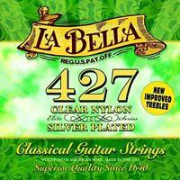 La Bella 427 Classical Guitar Strings, Clear Nylon, Elite Series - Medium...