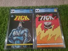 THE TICK #1,2 CGC 9.4 9.6 1ST PRINTS NEW ENGLAND COMICS 1988 NICE