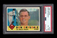 1960 Topps BB Card #475 Don Drysdale Los Angeles Dodgers PSA EX-MT 6 !!!