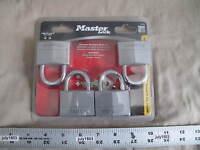"""(4) NEW Master Lock 2"""" Aluminum Padlocks, All Keyed Alike, #9150Q"""