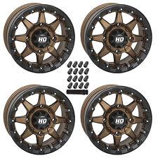 "14"" STI HD5 Bronze Beadlock Wheels Set 14x7 4/156 5+2 Polaris RZR 1000 900 Turbo"