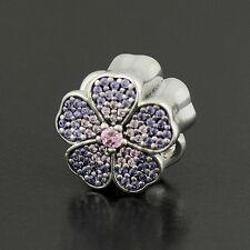 Authentic Pandora Charm Sparkling Apple Blossom, Blush Pink Crystal No.791831NBP