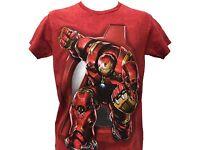 Marvel Avengers The Invincible Iron Man Action Logo Vintage Movie Men's T shirt