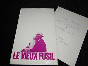 romy schneider noiret  LE VIEUX FUSIL rare dossier presse cinema 1975