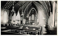 RPPC,Virginia City,Nevada,St.Pauls Church,Interior,1946