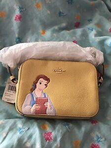 disney coach beauty and the beast belle yellow camera bag purse crossbody