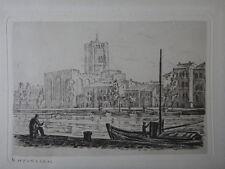Helene HYGRECKOS (1919-2009) gravure signée école de Paris marine 30x24