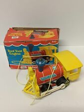 Vintage Fisher Price Toot Toot Engine with Box