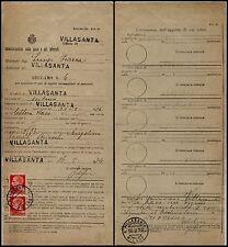 REGNO - Reclamo raccomandata - Due 20 cent imperiale (247) Villasanta 16.2.1934