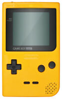 Nintendo Gameboy Pocket Handheld Gaming Console - Yellow - with Battery Cover