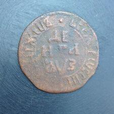 1707 DENGA OLD RUSSIAN IMPERIAL COIN. ORIGINAL.