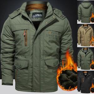 Men's Winter Waterproof Jacket Warm Outdoor Hooded Combat Military Tactical Coat