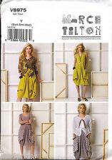 VOGUE SEWING PATTERN 8975 MISSES SZ 16-26 MARCY TILTON PULLOVER DRESS PLUS SIZES