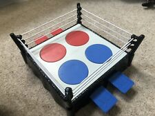 WWE Mini Royal Rumble Wrestling Ring - Used With Paint Scratches