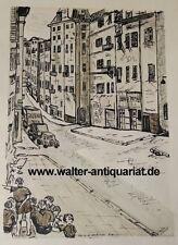 Nachlass Fußball-Bundestrainer Jupp Derwall Original-Zeichnung Nizza Nice 1963