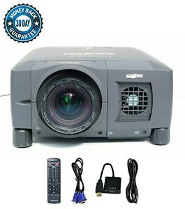 Refurbished Sanyo PLV-WF10 LCD Projector 4000 ANSI HDMI Adapter HD 1080i bundle