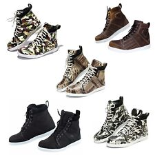 Mens Motorcycle Real Leather Shoes Sneakers Camouflage Causal Touring Waterproof