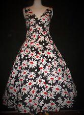ANN GREEN fabulous petticoat fifties 50s style dress M 12 dirndl