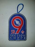 Boy Scout OA SR-9 Section Corps Patch