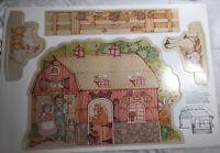 Garden Fair Farm Child Playset 1978 Paper Punch Out Farm - Paper doll style set