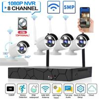 8CH HD 1080p Wireless Home Security IP Camera System 2MP WIFI NVR Kit Outdoor
