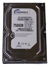 "Sonnics 750GB 3.5"" INCH SATA INTERNAL HARD DISK DRIVE 5400RPM 64MB PC CCTV DVR"