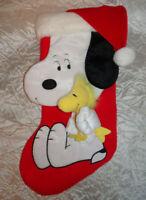 Hallmark Peanuts Snoopy Holding Woodstock Christmas Stocking