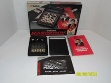 Saitek Kasparov Pocket Plus Trainer Chess Training Program Vintage Game w/ Books