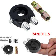 Car Oil Filter Adapter Sandwich Plate Mount Gauge Pressure Temp Sensor 1/8 NPT