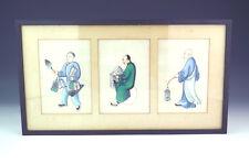 Antico Cinese-Dipinto a Mano caratteri orientali-Carta di riso o midollo PITTURA