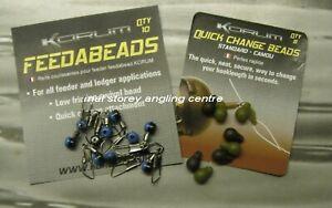 Korum Feeder Beads & Korum Standard Camo Quick Change Bead Carp Lead Kit