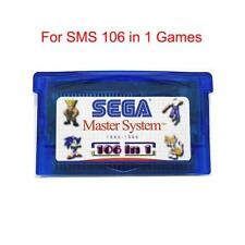 SMS 106 in 1 Games Sega Master System for Game Boy Advance SP NDS Multicart