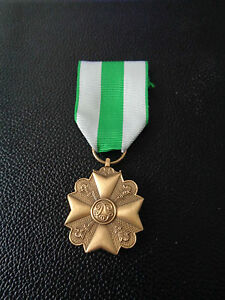 ^A24-016  Belgisches Medal Fire-Brigade Cross  - bronze Feuerwehr